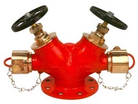 Double head landing valve