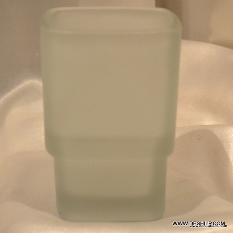 Square Glass Toothbrush Holder