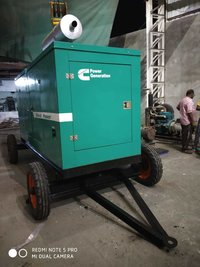 100 kva Silent Diesel Generator with Trolly