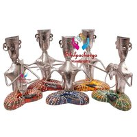 Iron Musical Sitting Men Set of 4