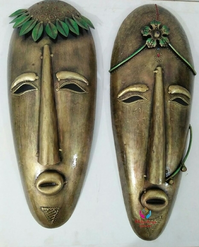 Iron Painted Mask Pair