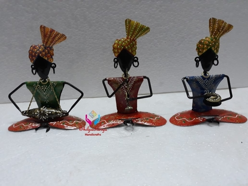 Iron Painted Sitting Musical Sardar Set of 3
