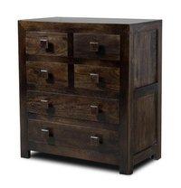 Mango wood chest of drawer