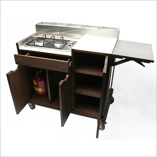 Restaurant Gas Stove Food Mobile Trolley