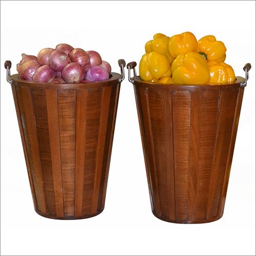 Banquet Wooden Vegetable Basket