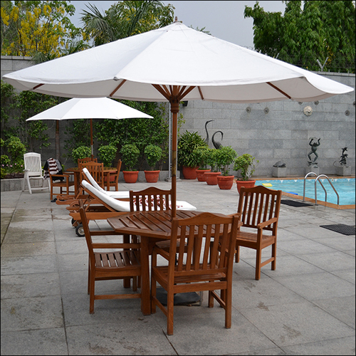Banquet Swimming Pool Side Wooden Table Set
