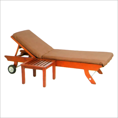 Burma Teak Sun Lounger With Side Table