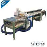 Cardboard edge protector cutting tool machine