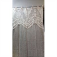 LINEN CUTWORK CURTAIN