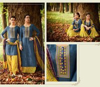 Cotton Embroidery Palazzo Suit