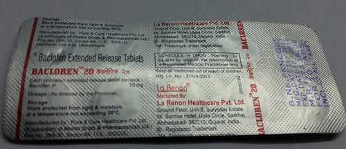 baclofen extended release tablets