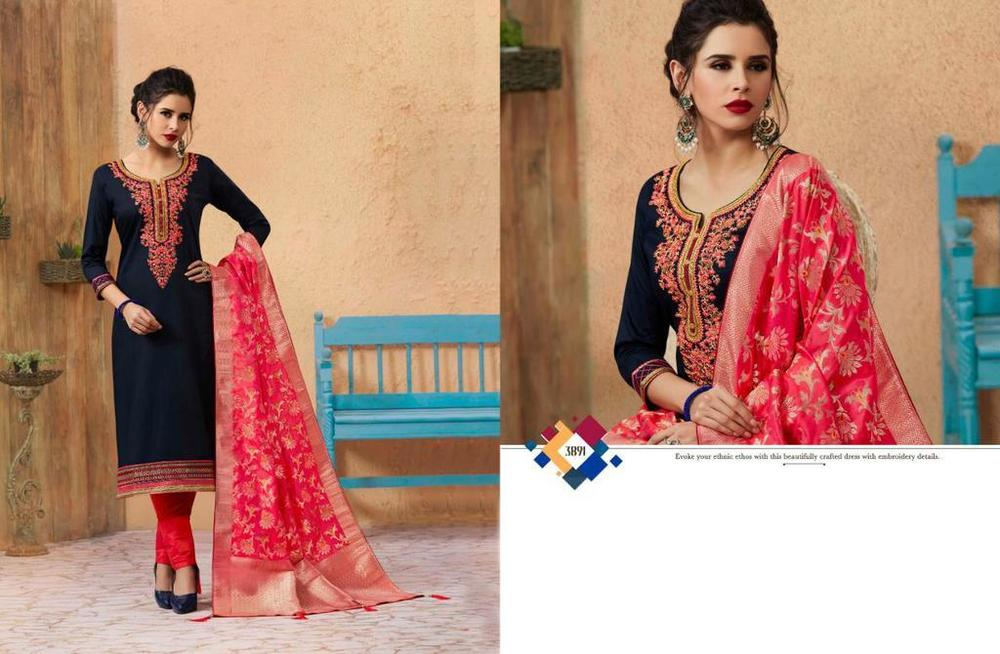 Embroidered Silk Suits
