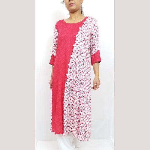 Designer printed rayon kurti
