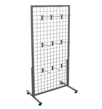 Stainless Steel Wire Display Racks with Hooks