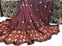 Heavy Embroidered Banglori Silk Designer Saree
