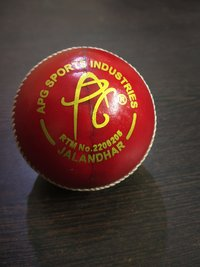 APG Alum Tanned Red Leather Cricket Ball (Kuldip Diamond)