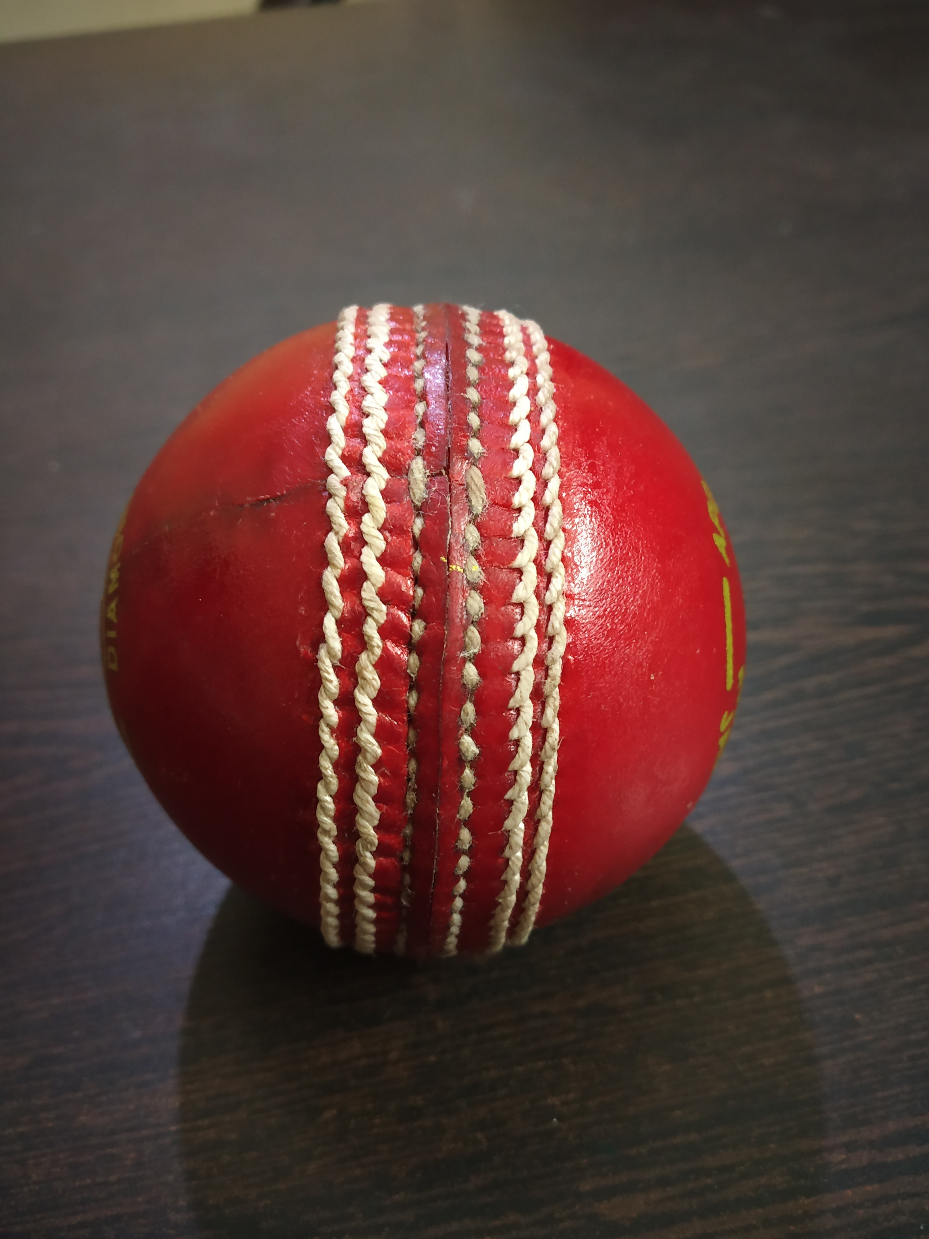 APG Alum Tanned Red Leather Cricket Ball (Kuldip Diamond)