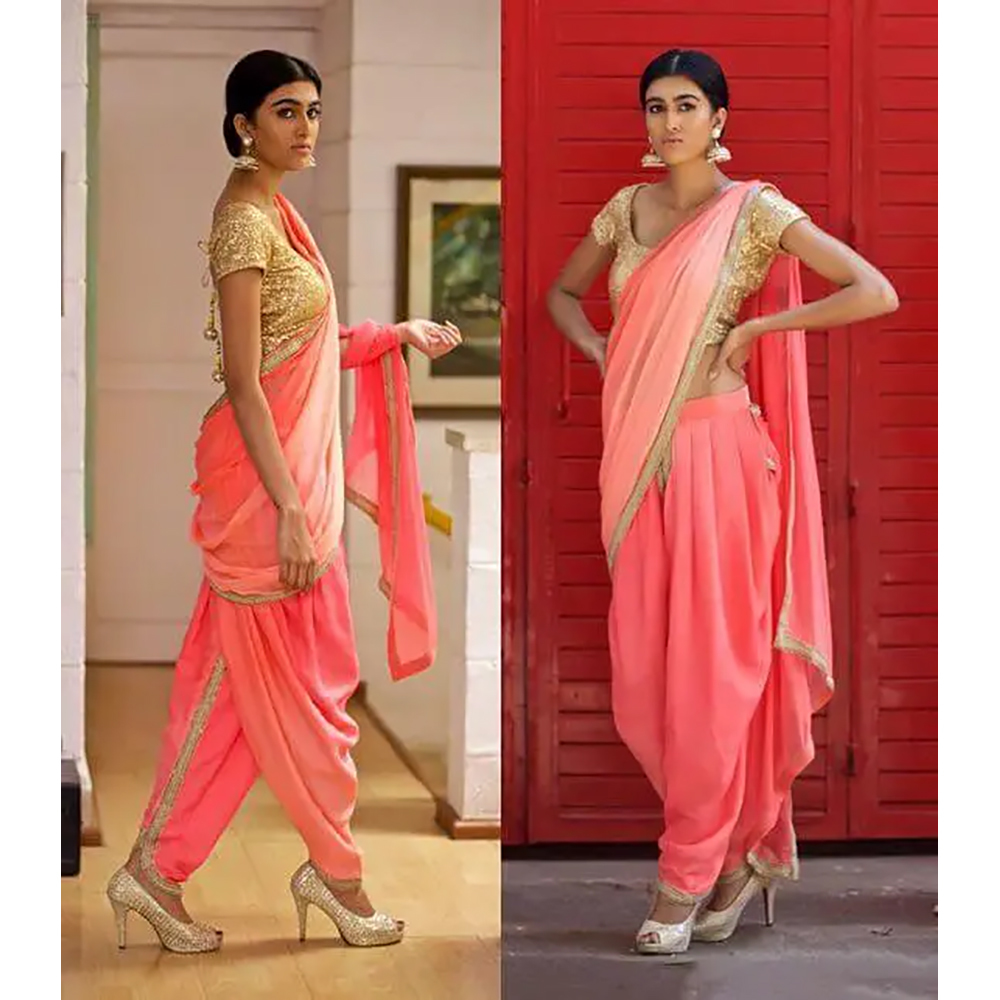 DANCE DHOTI SAREE