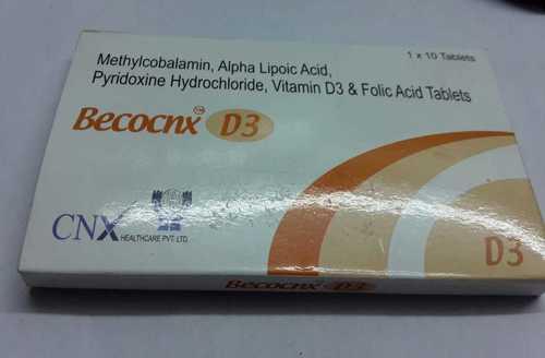 methycobalamin alpha lipoic acid pyridoxine jydrocloride vitamin d3 folic acid tablet