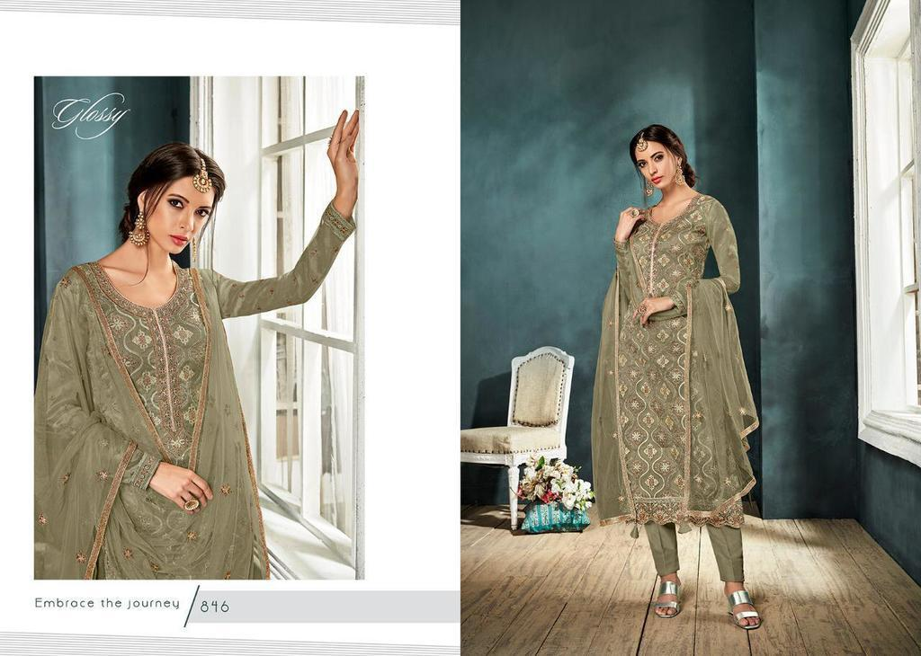 Organza Embroidery Work Suits