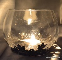 Vintage Glass Candle Holders Decor Mart