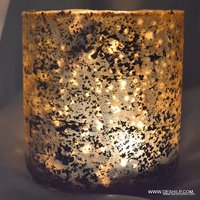 Glass Tea Light Candle Holders Copper Silver Holder Vintage Lights