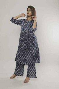 Ladies Cotton Kurtis With Palazzo