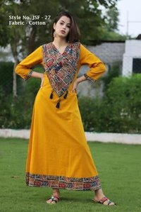 Ladies Round Neck Plain Kurtis