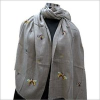 Embroidery designer scarf