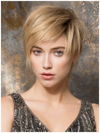 2 Toned Brown Blonde Short Wavy