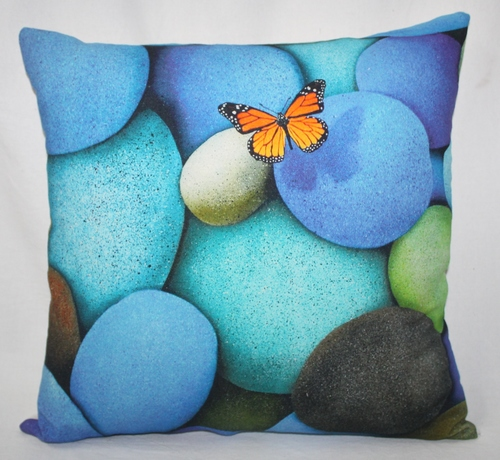 Multicolor Stones Cushion Cover