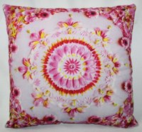 Pink Flower Printed Cushion Cover