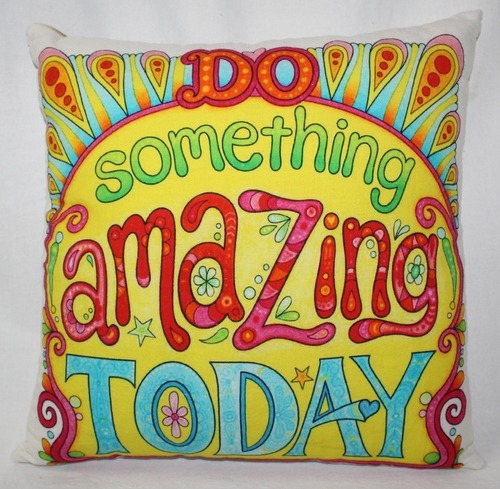 Multicolor Quote Design Cushion Cover