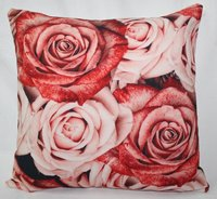 Flower Printed Cushion Cover