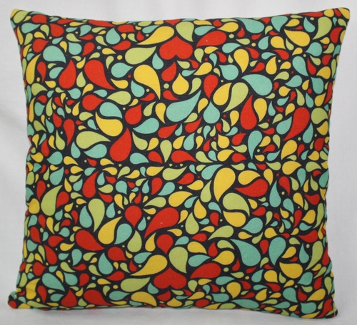 Multicolor Hearts Cushion Cover