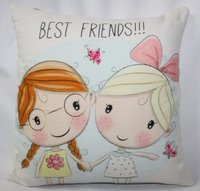 Doll Printed Cushion Cover