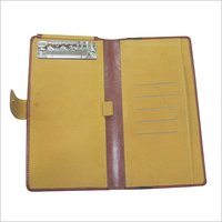 Brown Leather Cheque Book Holder