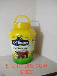 Brij Gwala Pure Cow Ghee 5 Ltr Jar