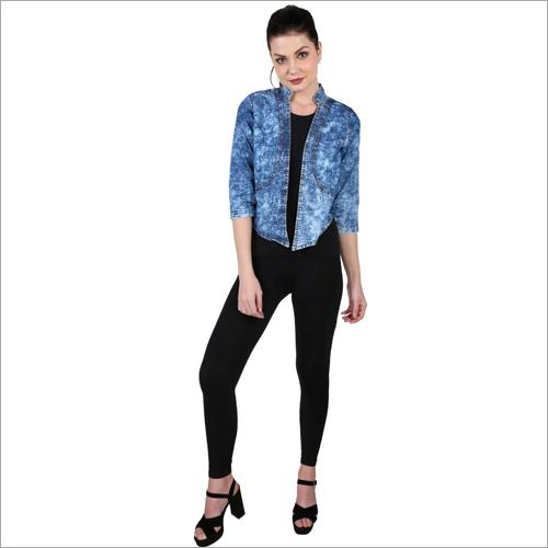 Ladies Plain Denim Jacket