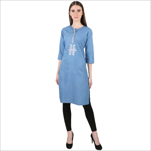 Ladies Casual Wear Denim Kurti