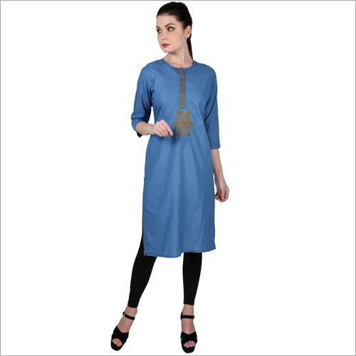 Ladies Modern Denim Kurti