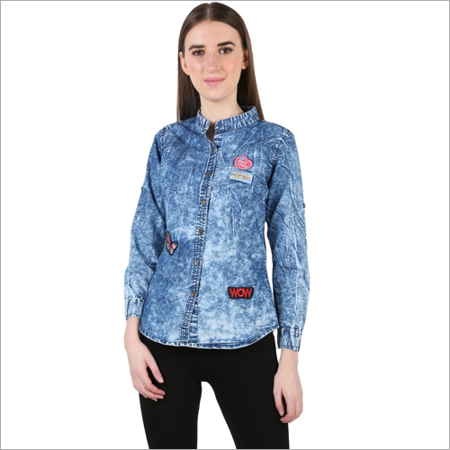 Ladies Designer Denim Shirt