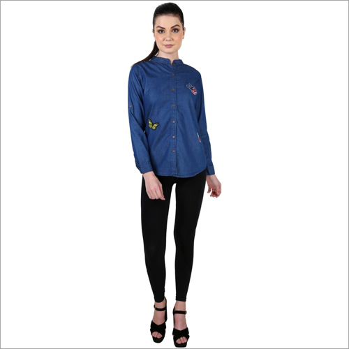 Ladies Full Sleeves Denim Shirt