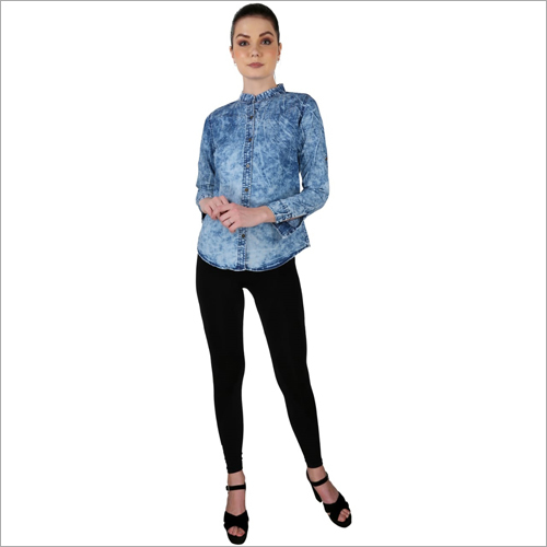 Ladies Modern Denim Shirt