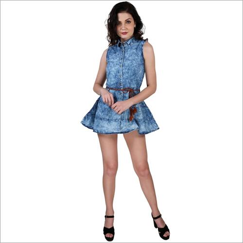 Ladies Designer Denim One Piece Dress