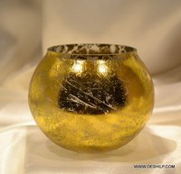 Home Decor Gift Handcrafted Glass Candle Holder