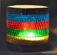 Mosaic Multi Color Candle Holders Beautiful Set