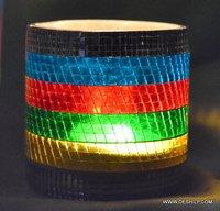Mosaic Multi Color Candle Holders Beautiful Set