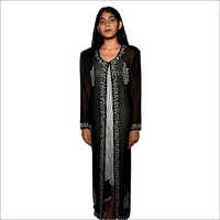 Ladies African Long Black Kaftan Dress