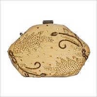 clutch purse golden shining